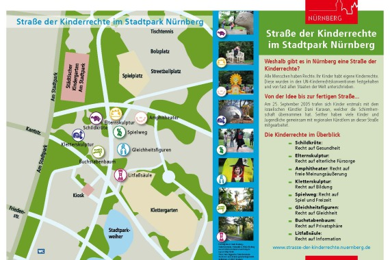 Straße der Kinderrechte Station 1: Lageplan