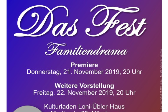 2019 Theaterprojekt International Das Fest Plakat